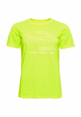 Superdry Women's Vl Outline Pop Entry Tee T-Shirt