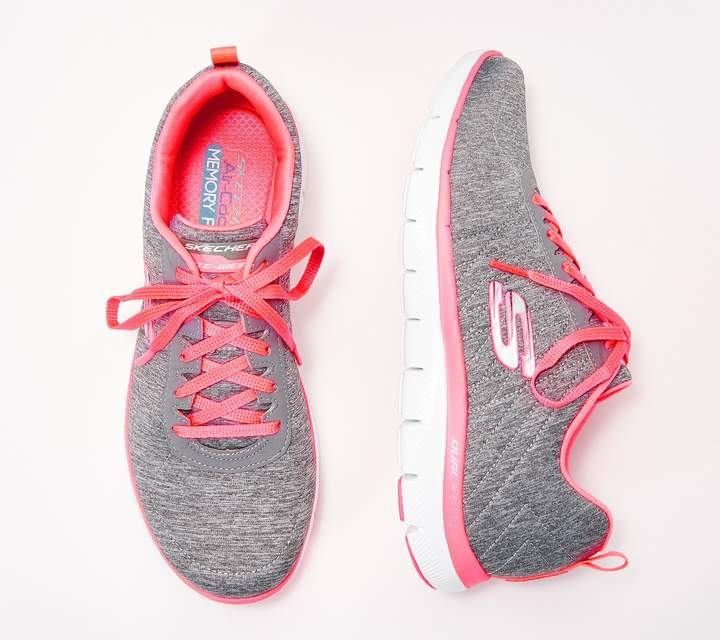 Skechers Flex Appeal 2.0 Heathered Lace-Up Sneakers