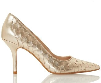 Dune London Bowe Pointed Toe Mid Heel Court Shoes