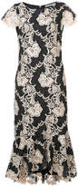 Alice + Olivia Alice+Olivia embroidered fitted dress