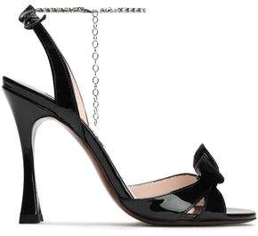 ALEXACHUNG Embellished Patent-leather Sandals