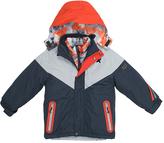 Big Chill Charcoal & Orange Color Block System Coat - Boys