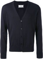Maison Margiela knitted cardigan - men - Cotton/Leather/Wool - M