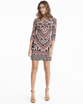 White House Black Market Mixed Print Shift Dress