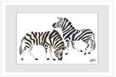 Zebras by Eric Carle (Framed Giclee)