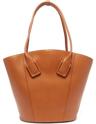 Bottega Veneta Basket Large Leather Tote Bag - Womens - Tan