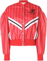 MSGM striped sports jacket