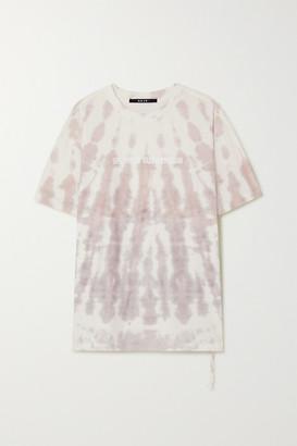 Ksubi Submersion Printed Tie-dyed Cotton-jersey T-shirt - Blush
