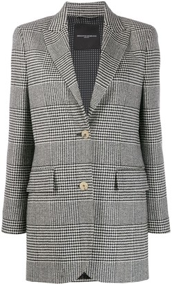 Ermanno Scervino dogtooth single-breasted blazer