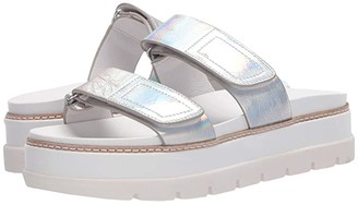 J/Slides Betsey (Black Metallic) Women's Shoes