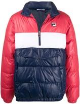 Fila colour-block puffer jacket