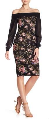Rachel Roy Off Shoulder Floral Dress