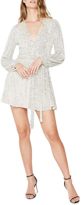 Bardot Bellissa Sequin Faux-Wrap Mini Dress