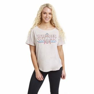 Dc Comics Women's Wonder Woman Full Logo T-Shirt