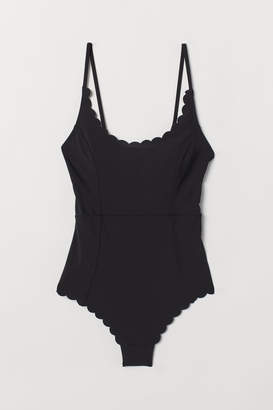 H&M Scallop-edged swimsuit