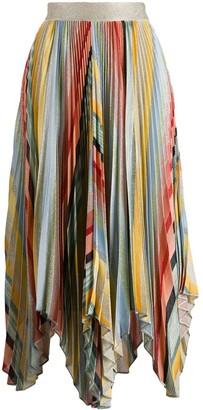 Missoni pleated asymmetric skirt