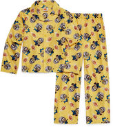 LICENSED PROPERTIES Minions Coat Front Pajama Set- Boys