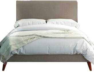 "Foundstoneâ""¢ Parocela Tufted Upholstered Low Profile Platform Bed Foundstonea Size: California King, Color: Light Gray"