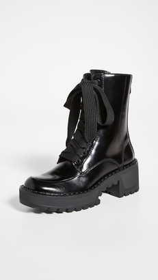 Stella Luna Metal Lace Up Boots