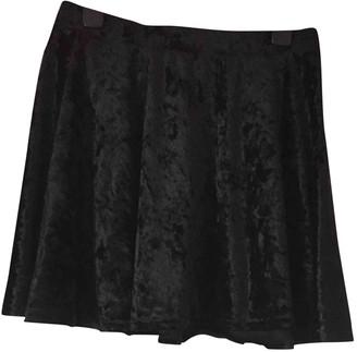 Topshop Tophop Black Velvet Skirt for Women