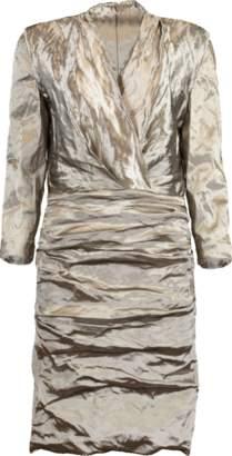 Nicole Miller Metallic V-Neck Dress