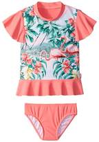 Seafolly Hawaiian Rose Rashie Set Girl's Swimwear Sets