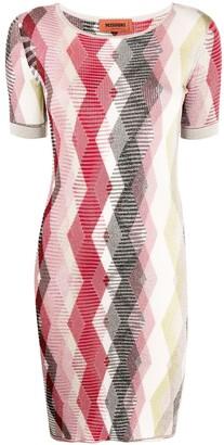 Missoni Argyle Pattern Jumper Dress