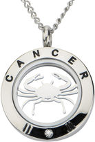 JCPenney FINE JEWELRY Cancer Zodiac Cubic Zirconia Stainless Steel Locket Pendant Necklace