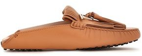 Tod's Fringed Leather Collapsible-heel Loafers