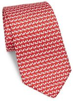 Salvatore Ferragamo Fox Print Silk Tie