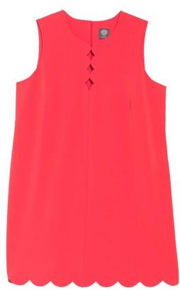 Vince Camuto Scalloped Keyhole Shift Dress (Plus Size)