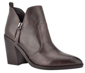 Nine West Women's Byro Heeled Booties Women's Shoes
