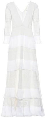 LoveShackFancy Bridal Lennon embroidered maxi dress