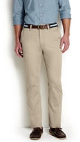 Lands' End Men's Straight Fit Casual Chino Pants-Burgundy