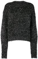 Isabel Marant Black tinsel knitted jumper