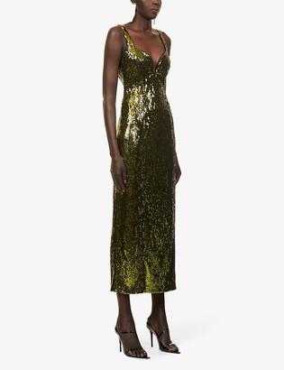 Galvan Savannah sequinned maxi dress