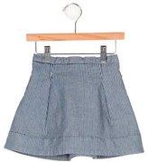 Bonpoint Girls' Striped Denim Skirt