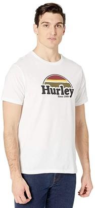 Hurley Rise Jam Short Sleeve Graphic T-Shirt (White) Men's Clothing