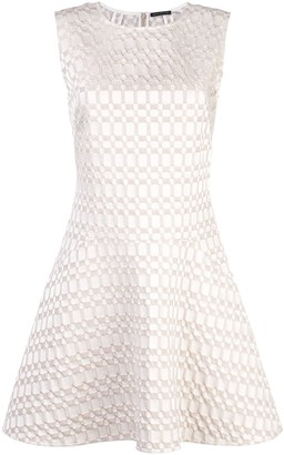 Josie Natori jacquard fit and flare dress