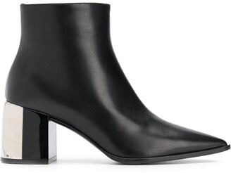 Casadei mirror effect ankle boots