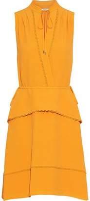 Derek Lam 10 Crosby Wrap-effect Crepe Peplum Mini Dress