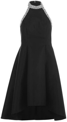 Adrianna Papell Embellished Halter Dress