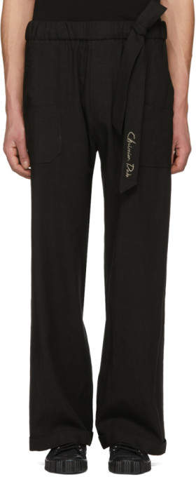 Christian Dada Black Wide-Leg Baker Trousers
