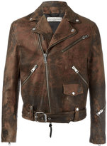 Golden Goose Deluxe Brand Golden biker jacket - men - Calf Leather/Polyester/Viscose - XL
