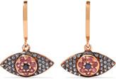 Ileana Makri Open Eye 18-karat Rose Gold, Sapphire And Rhodolite Earrings - one size