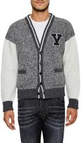 Saint Laurent Wool Cardigan With Patch