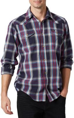 Wrangler Men's Snap-Front Plaid Western Shirt