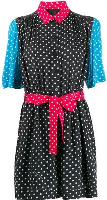 Moschino polka-dot print shirt dress