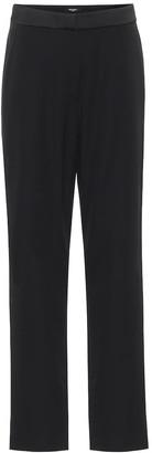 Balmain Low-rise straight satin pants