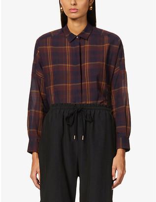 Sessun Delima tartan cotton shirt